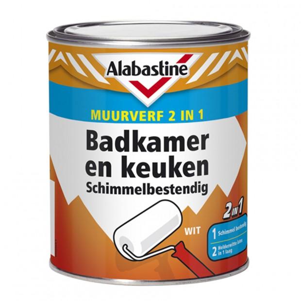 2in1 Muurverf Badkamer en Keuken Schimmelbestendig. - Alabastine