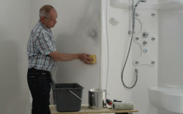 in muurverf badkamer en keuken schimmelbestendig.  alabastine, Meubels Ideeën